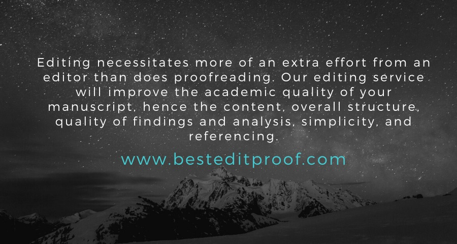 Editing versus Proofreading